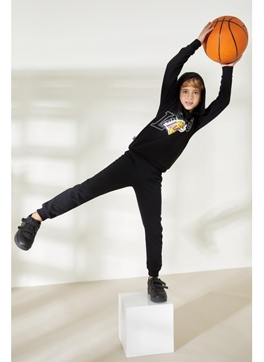 DeFacto Erkek Çocuk NBA Lisanslı Sweatshirt Siyah